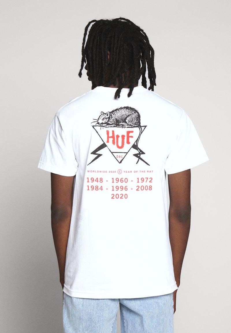 HUF - YEAR OF THE RAT TEE - Triko spotiskem - white