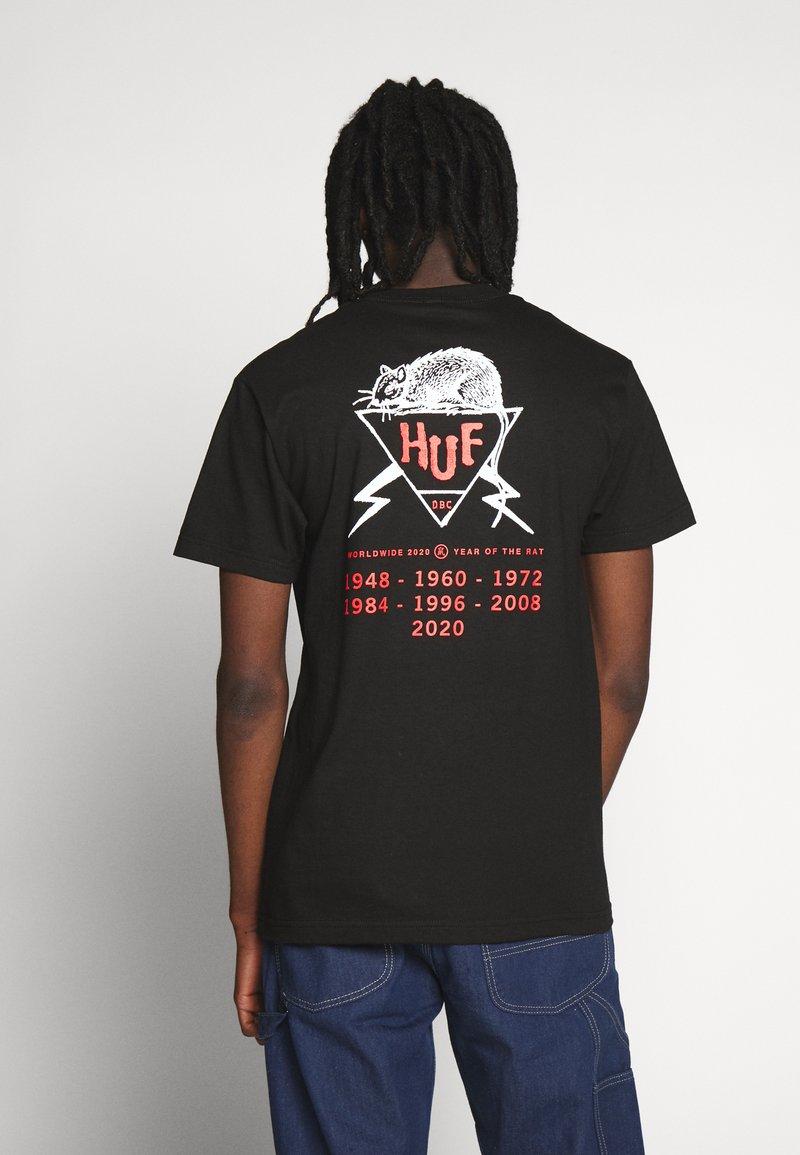 HUF - YEAR OF THE RAT TEE - T-Shirt print - black