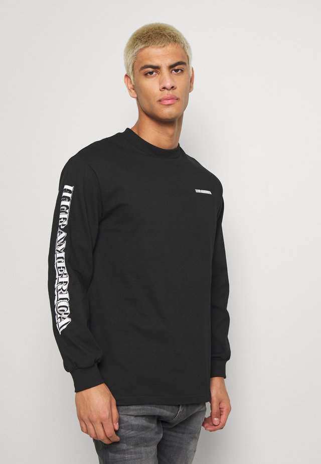 DEATH TAXES TEE - Long sleeved top - black