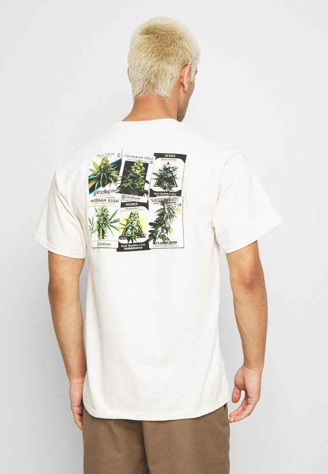 THUMB TEE - Printtipaita - natural