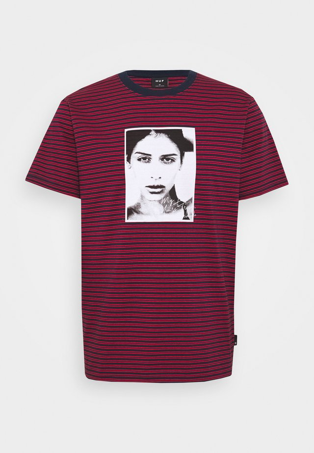 MOLLY STRIPED  - Print T-shirt - true red