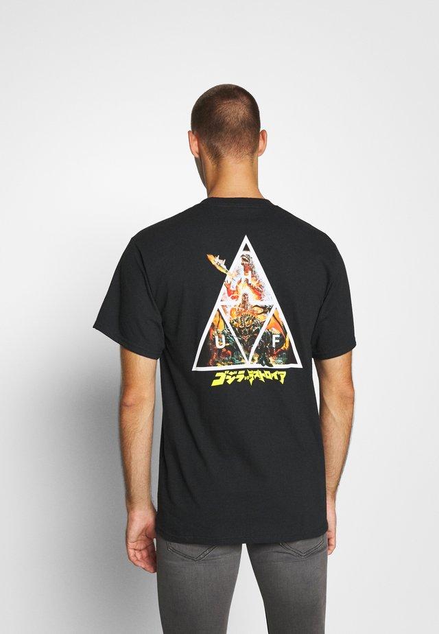GODZILLA TEE - Print T-shirt - black