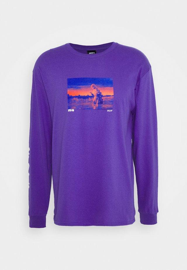 GODZILLA WATER TEE - Top sdlouhým rukávem - purple