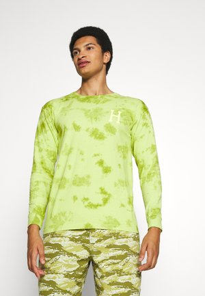 CLASSIC WATERCOLOR TEE - Long sleeved top - safety green