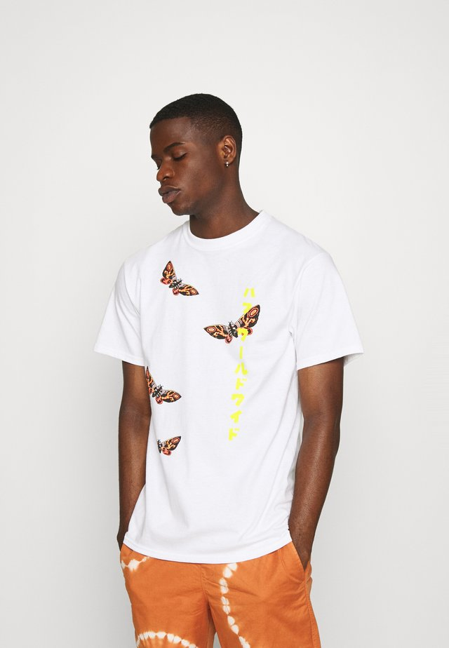 MOTHRA TEE - T-shirt imprimé - white