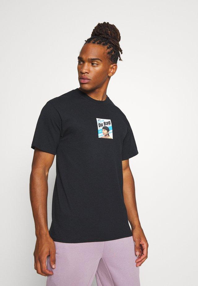 DU RAG  - Print T-shirt - black