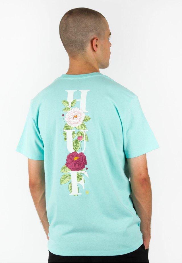 T-SHIRT CENTRAL PARK POCKET - Print T-shirt - celadon