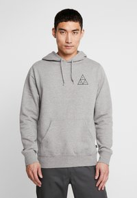 HUF - ESSENTIALS HOODIE - Mikina s kapucí - grey heather - 0
