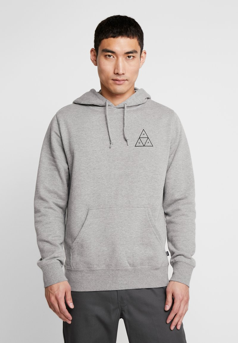 HUF - ESSENTIALS HOODIE - Mikina s kapucí - grey heather