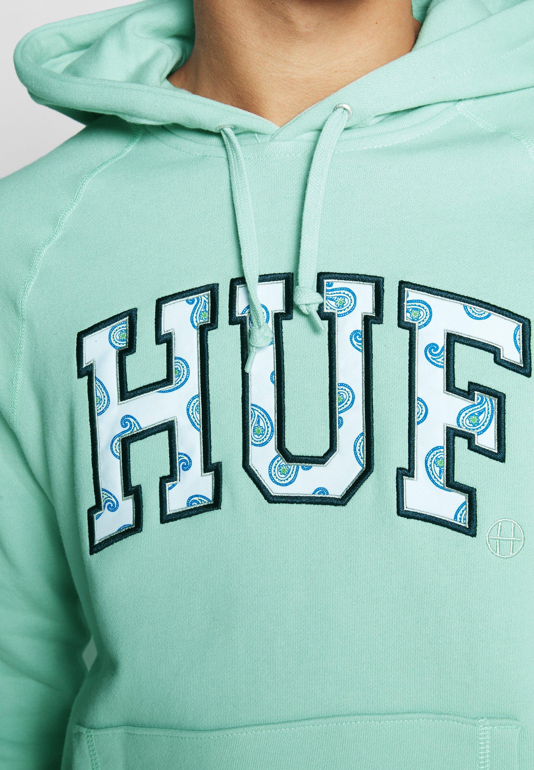 HUF PAISLEY HOODIE - Hoodie - beryl green