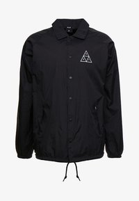 HUF - ESSENTIALS COACHES JACKET - Lehká bunda - black - 4