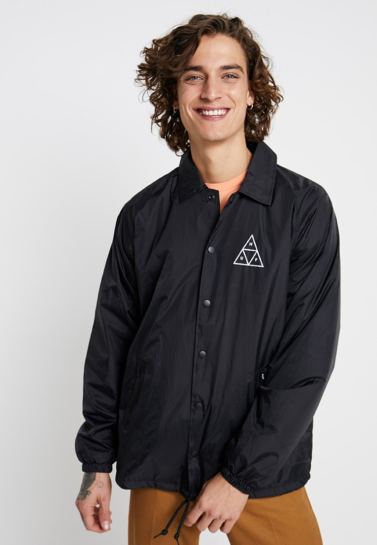 HUF - ESSENTIALS COACHES JACKET - Lehká bunda - black