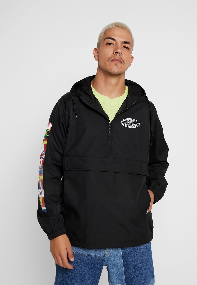 HUF - WORLD TOUR ANORAK - Větrovka - black