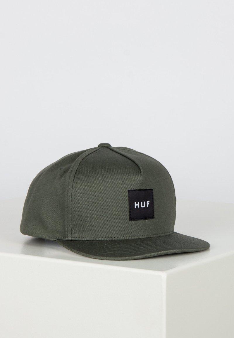 HUF - ESSENTIALS BOX SNAPBACK HAT - Cap - army