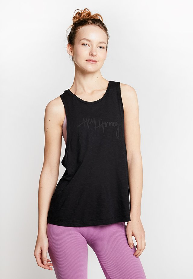 TANK BREATHE EASY  - Topper - black