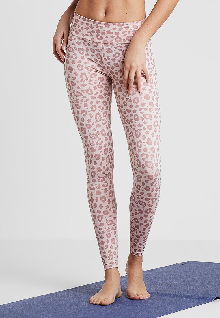 Hey Honey - LEGGINGS LEAVES - Punčochy - blush