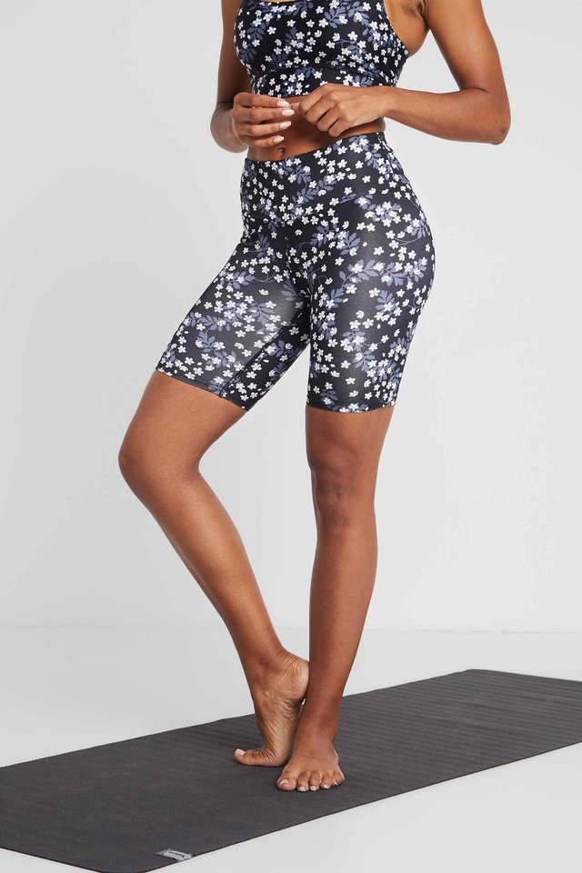 BIKER SHORT DASIY - Tights - dark blue