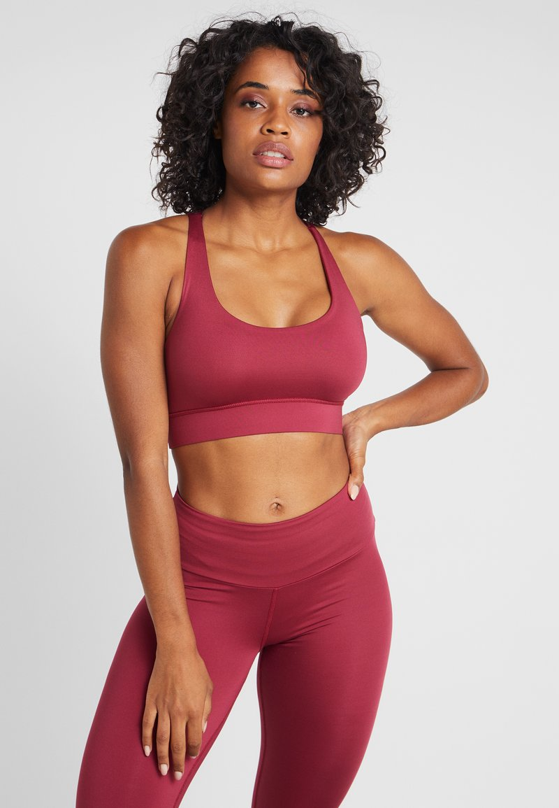 Hey Honey - CRISS CROSS BRA BORDAUX - Sport BH - red