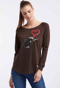 HOMEBASE - Långärmad tröja - brown - 0