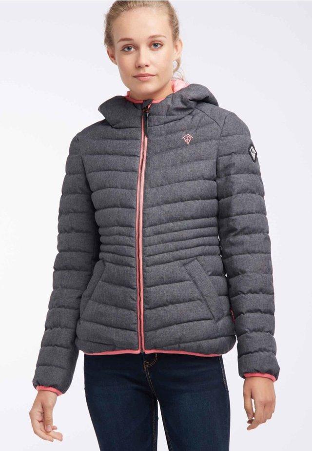 Winter jacket - blue grey melange