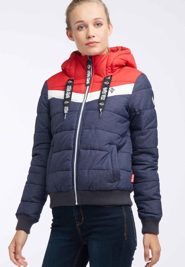 Winter jacket - red/marine melange