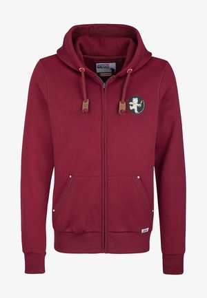 HOMEBASE - veste en sweat zippée - bordeaux