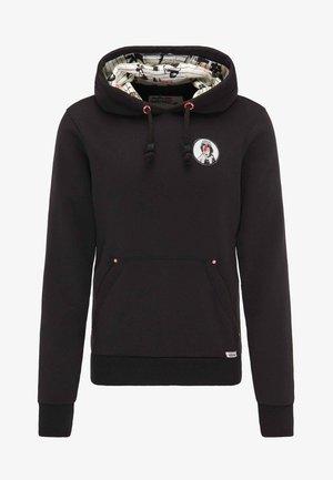 BRANDALISED - Jersey con capucha - black
