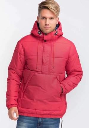 Zimní bunda - mottled dark red
