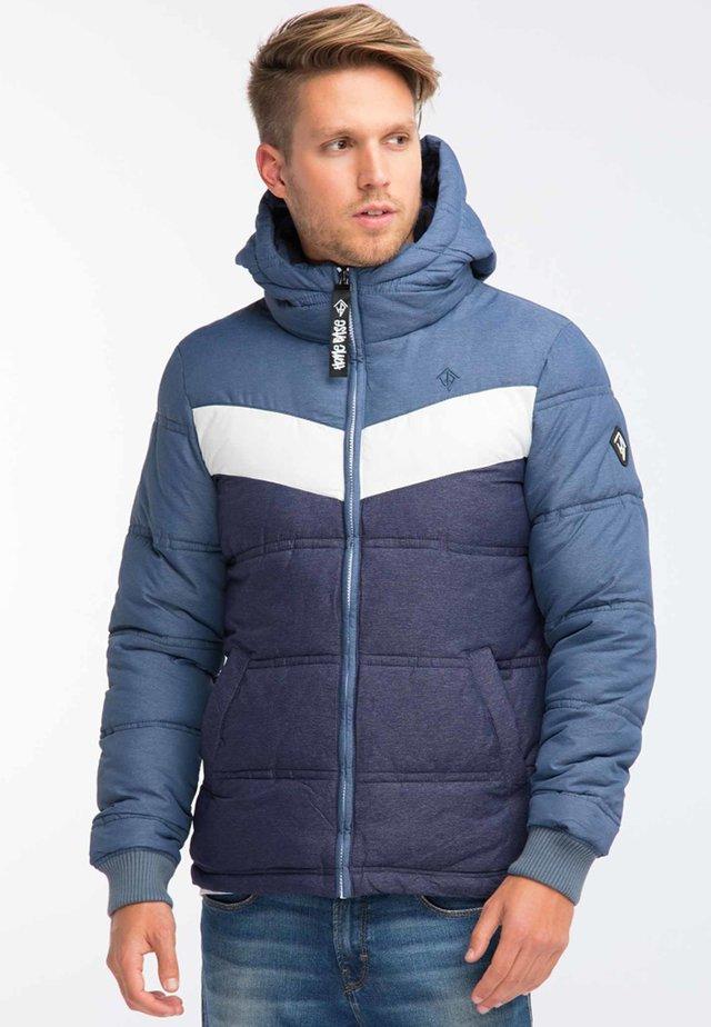 Winter jacket - mottled dark blue