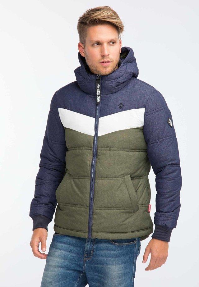 Winter jacket - marine/olive melange