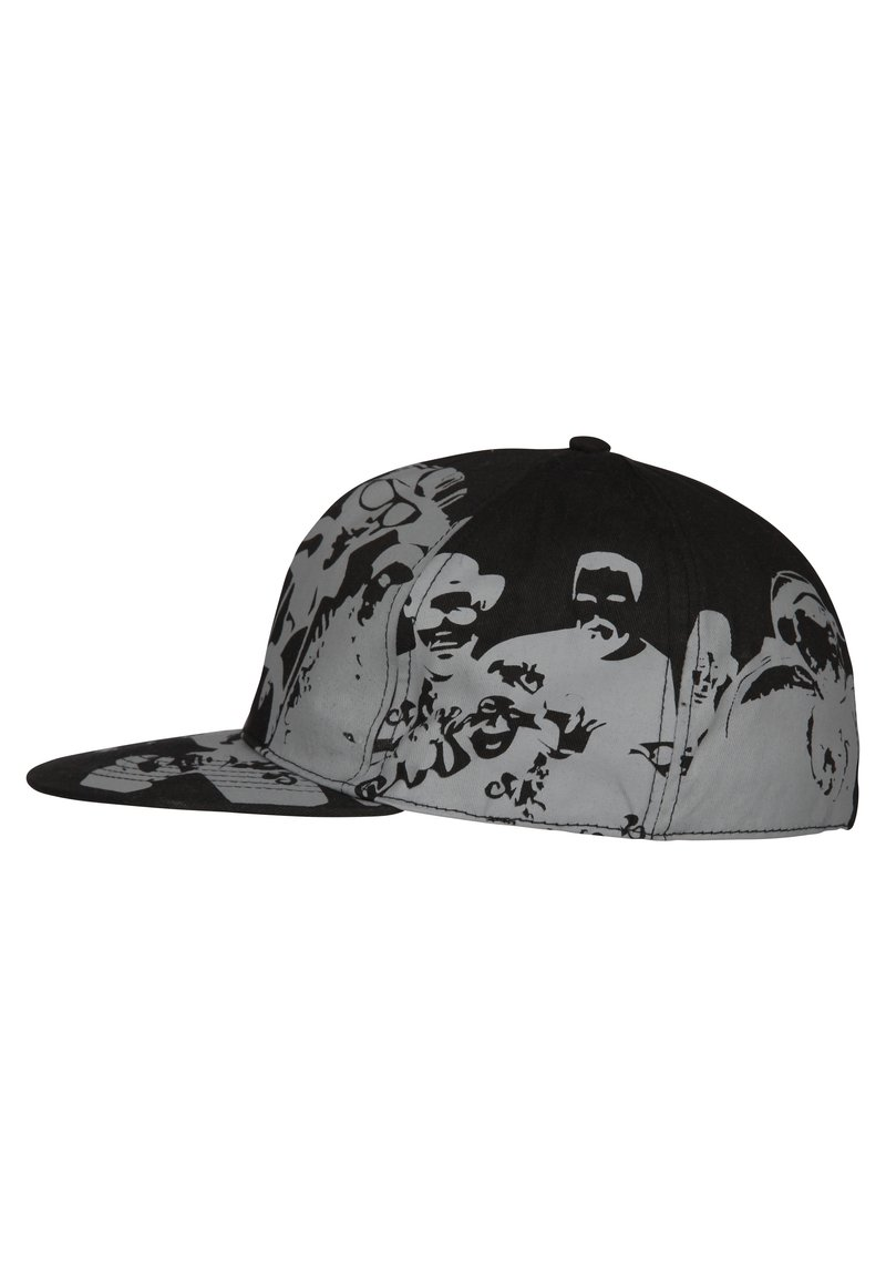 HOMEBASE - HOMEBASE - Cap - schwarz/grau people print