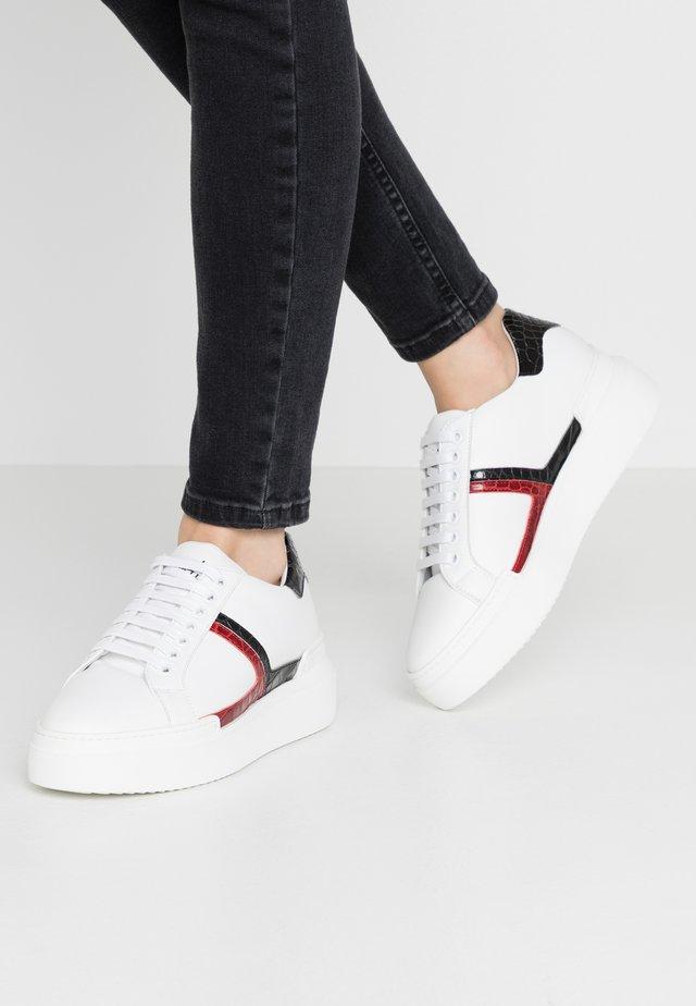 Sneakers - bianco/coconilonero rosso