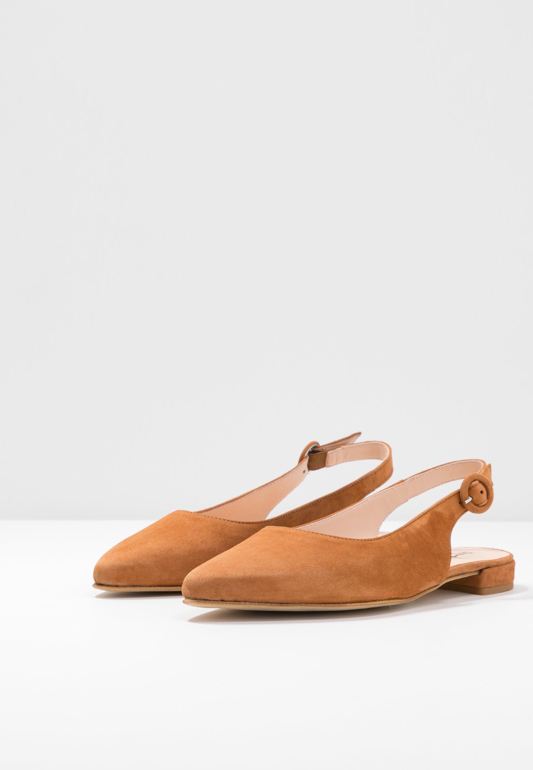 Hash#tag Sustainable Ballerina Med Hælstøtte - Cognac