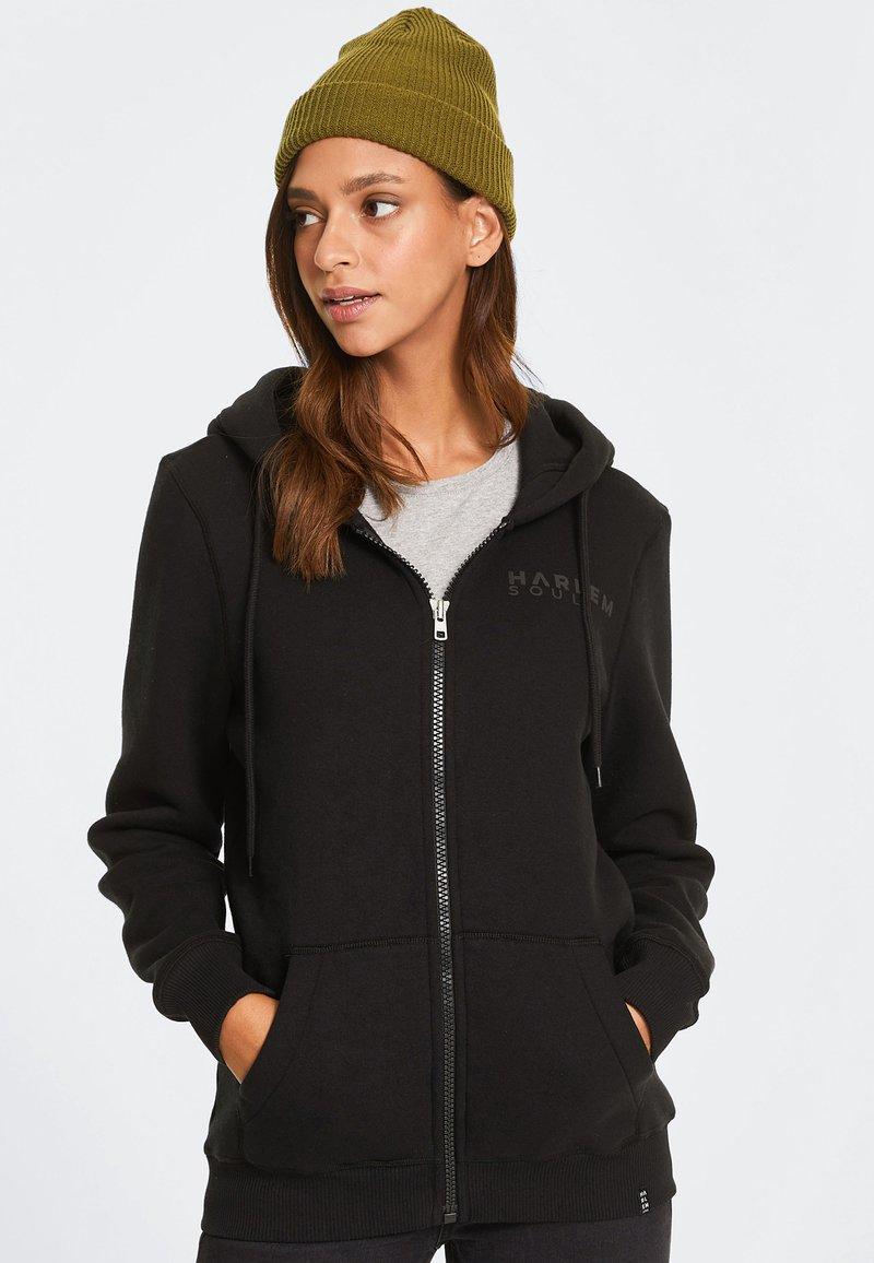Harlem Soul - Zip-up hoodie - black