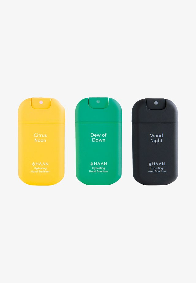 HAAN 3 PACK HAND SANITIZER - DEW OF DAWN, CITRUS NOON, WOOD NIGHT - Bath and body set - mixed