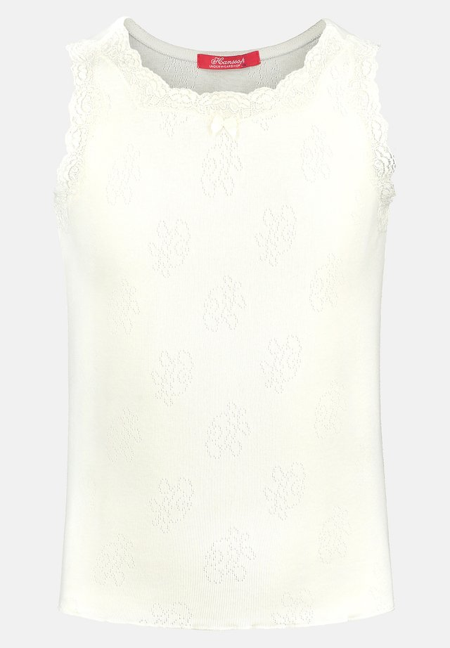 POINTELLE ROSE - Undershirt - ivory