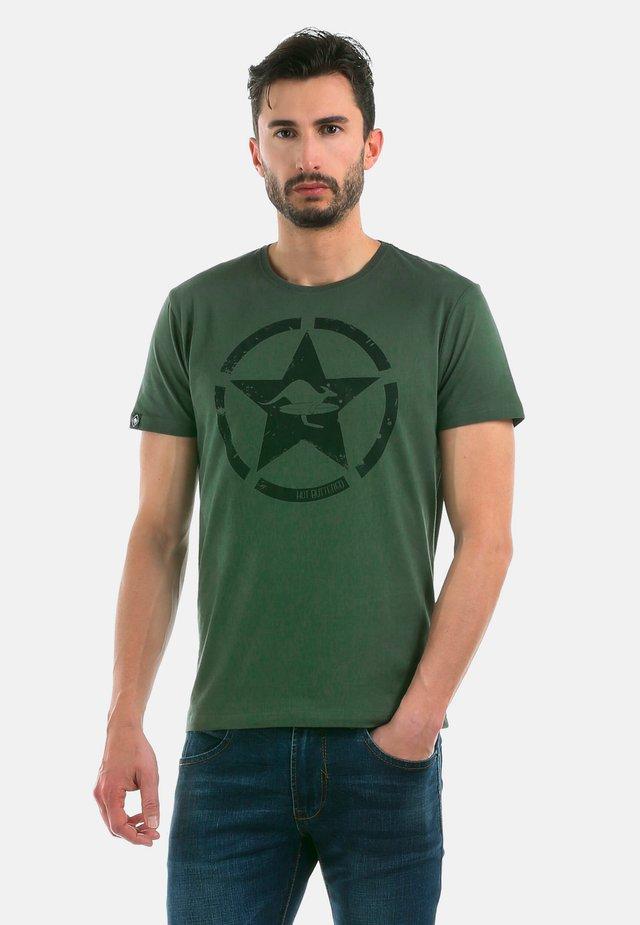 CIRCLE STAR - T-shirt imprimé - militarygreen