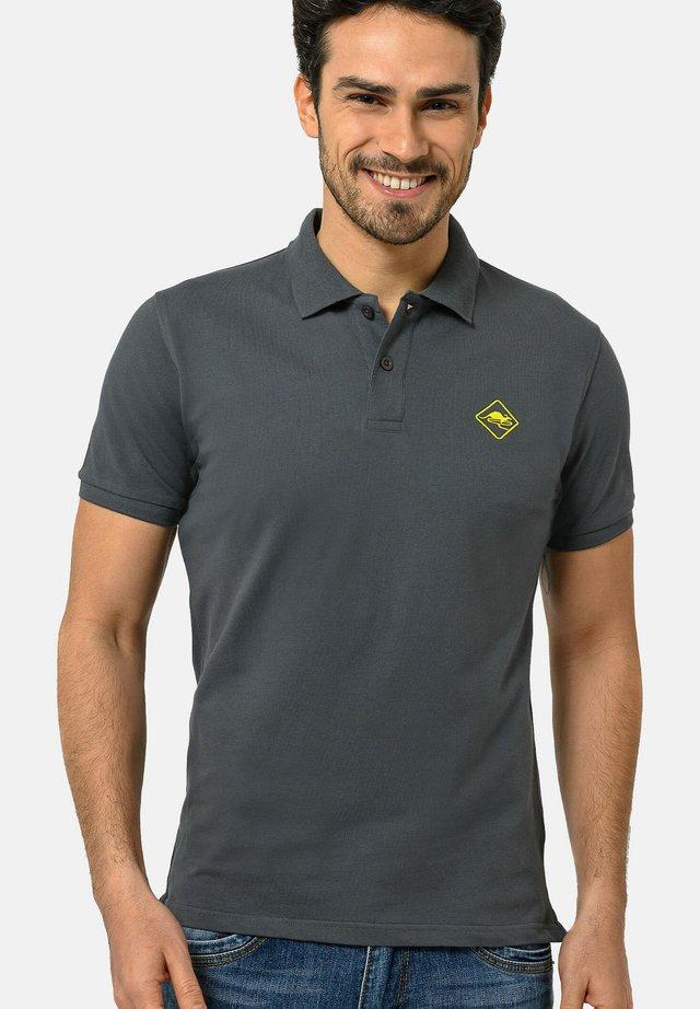 Poloshirt - carbongrey-yellow