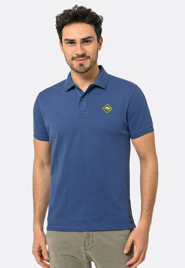 Poloshirt - indigo-yellow