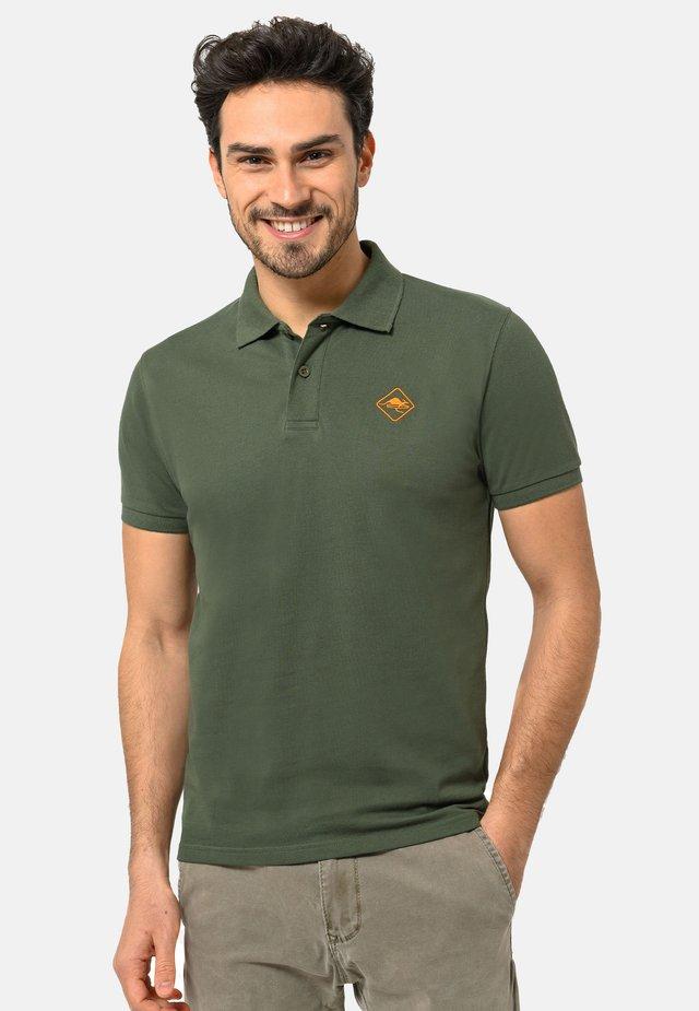 Poloshirt - militarygreen-orange