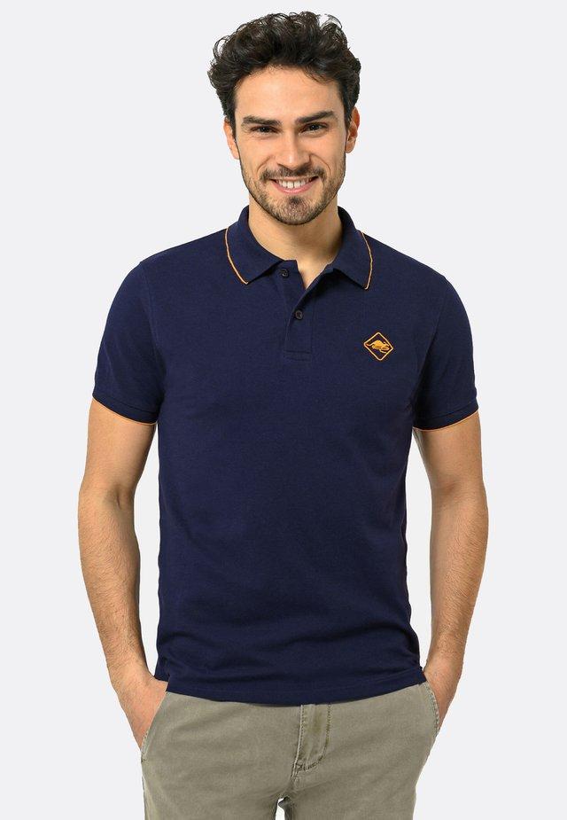 Poloshirt - navy-orange