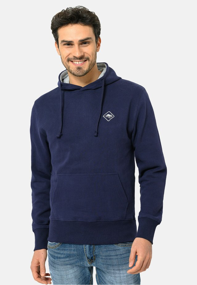 Sweat à capuche - navy-grey
