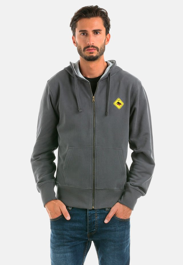 veste en sweat zippée - carbongrey