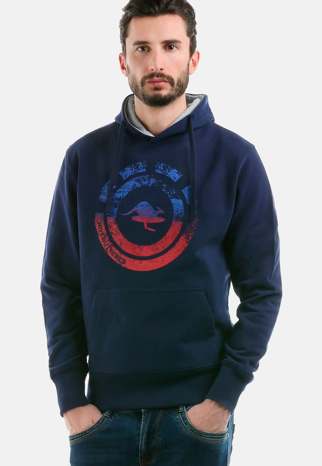 NAHUA - Sweat à capuche - navy