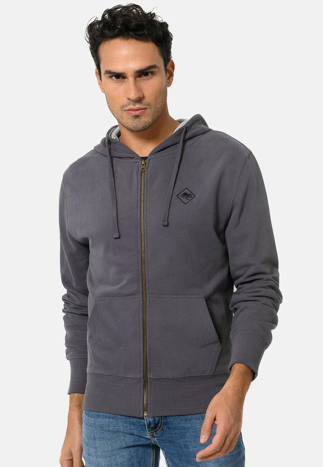 veste en sweat zippée - carbon grey\black