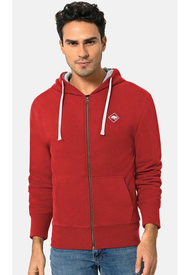 veste en sweat zippée - dark red