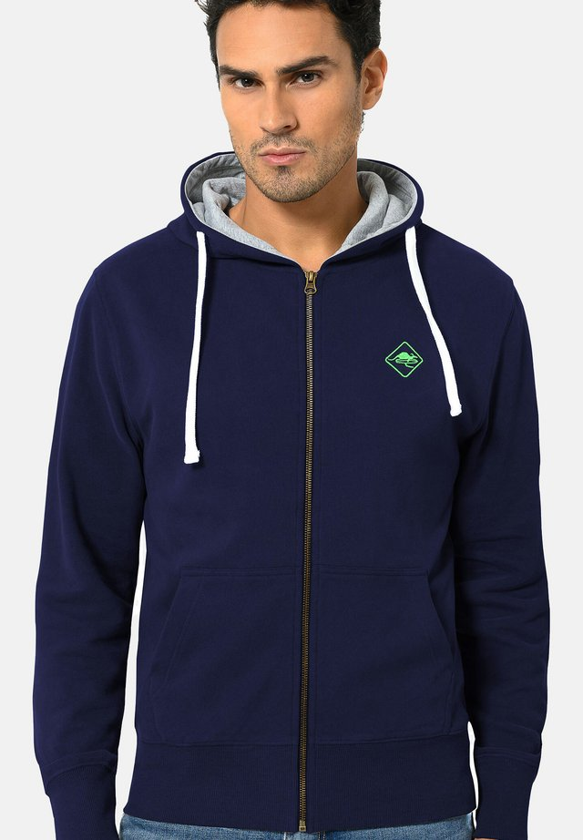 veste en sweat zippée - navy-green