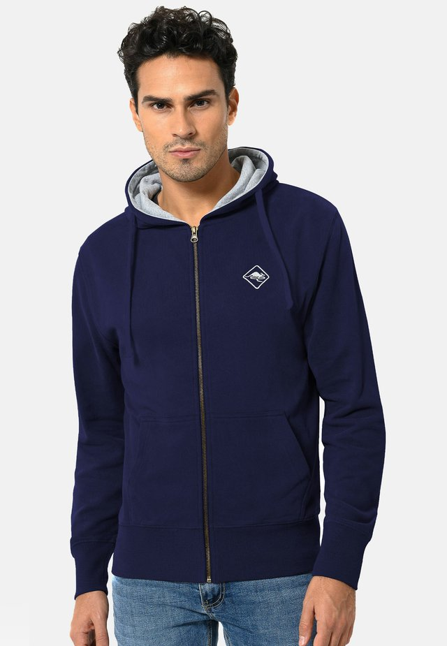 veste en sweat zippée - navy-grey