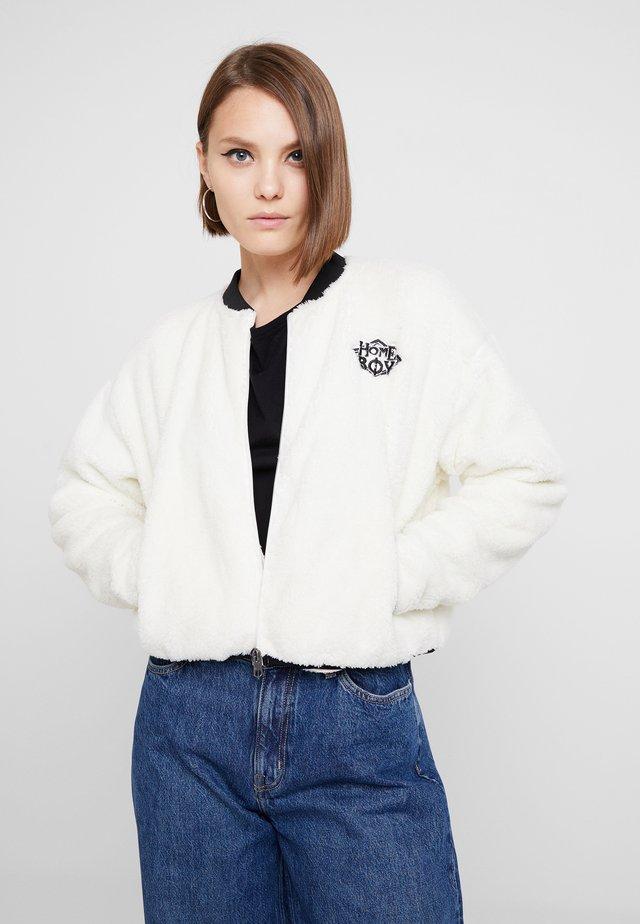 POODLE - Fleece jacket - white