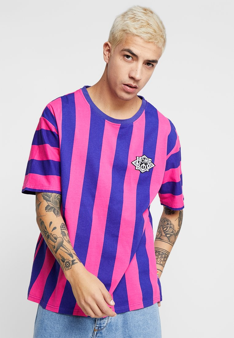 Homeboy - REFEREE TEE - T-shirt imprimé - pink